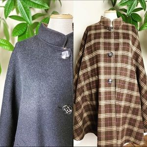 Jackets & Blazers - Reversible wool cape